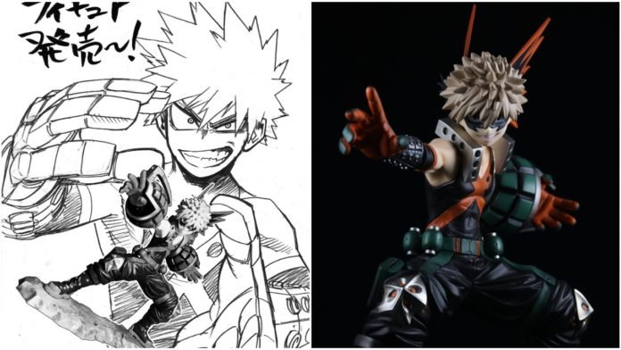 My Hero Academia Creator Honors New Bakugo Figure With this Beautiful Sketch