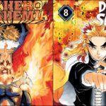MHA #2 & Demon Slayer #13 on U.S. Monthly Adult Graphic Novel Bookscan List