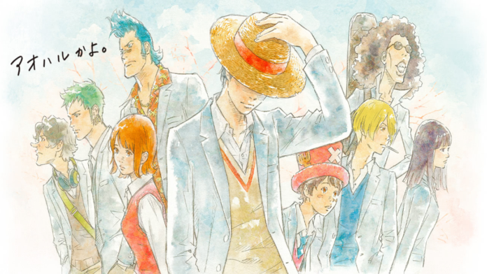 One Piece x Cup Noodle Collaboration Music Trailer Explores Pirates High School Dreams