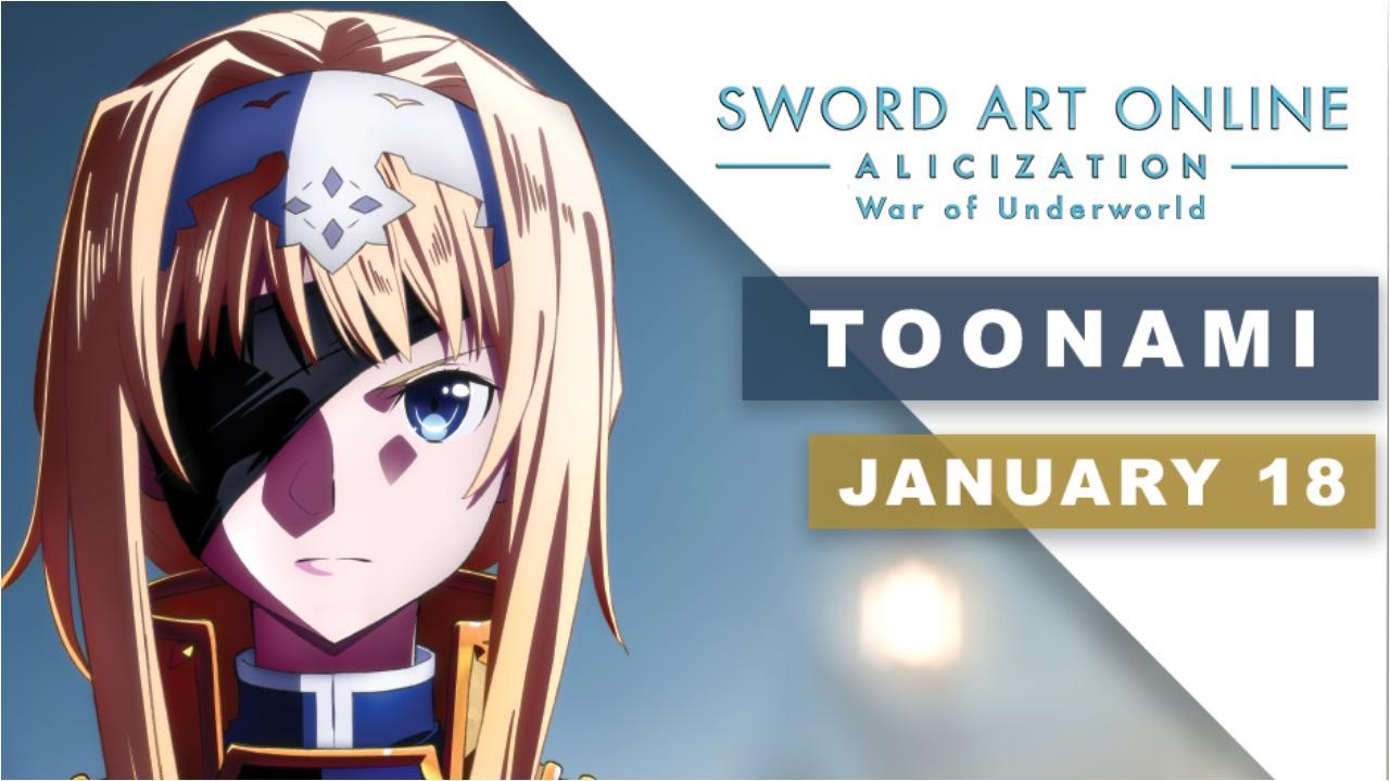 Sword Art Online: Alicization War Of Underworld İn Toonami