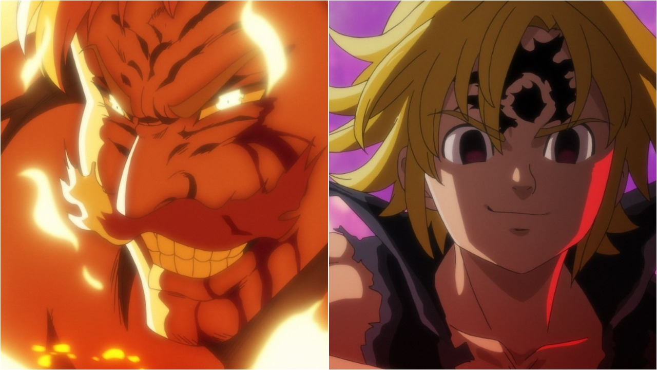 The Seven Deadly Sins Escanor vs Meliodas Fight