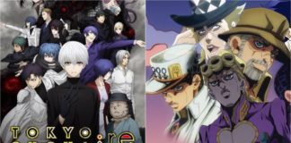 Tokyo Ghoul:re and Jojo's Bizarre Adventure Blu-ray