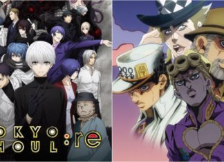Tokyo Ghoul:re and Jojo's Bizarre Adventure Blu-ray