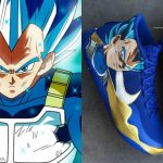 NBA Star Shows his Love With Custom Vegeta Blue Sneakers