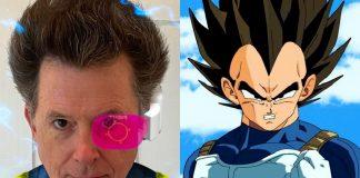 Stephen Colbert Dragon Ball's Prince Vegeta Look Is Over 9000
